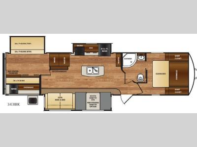 Floorplan - 2017 Forest River RV Wildcat 343BIK