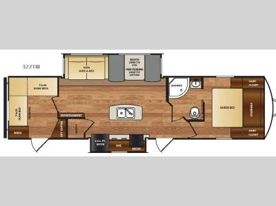 Floorplan - 2017 Forest River RV Wildcat 322TBI