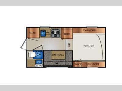 Floorplan - 2017 Travel Lite Truck Campers 890SBRX Series