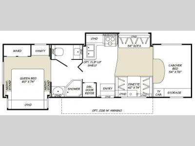 Floorplan - 2007 Fleetwood RV Tioga 31K