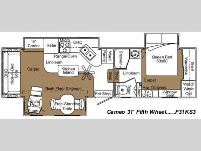 Used 2004 carriage cameo f31ks3 fifth wheel at general rv for Table 6 north canton oh