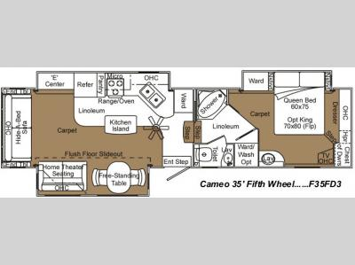 Floorplan - 2007 Carriage Cameo F35FD3