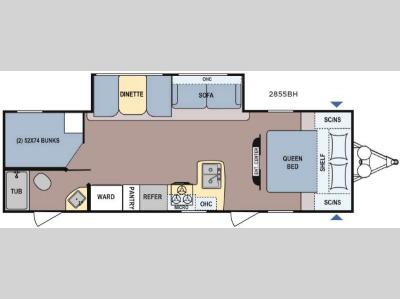 Floorplan - 2016 Dutchmen RV Coleman Light 2855BH