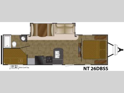 Floorplan - 2017 Heartland North Trail 26DBSS King