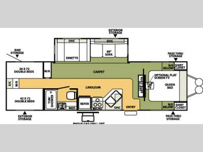 Floorplan - 2007 Forest River RV Flagstaff 831QBSS