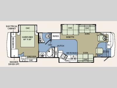Floorplan - 2006 Holiday Rambler Ambassador 38PDQ