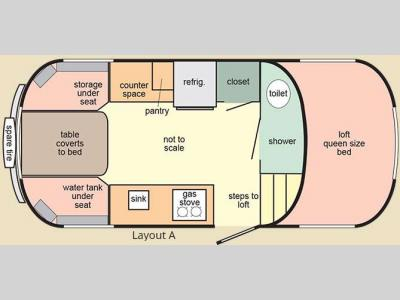 Floorplan - 2016 Scamp 19 Foot 19 Foot Layout A
