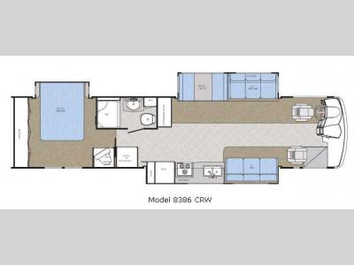 Floorplan - 2007 Gulf Stream RV Crescendo 8386 CRW