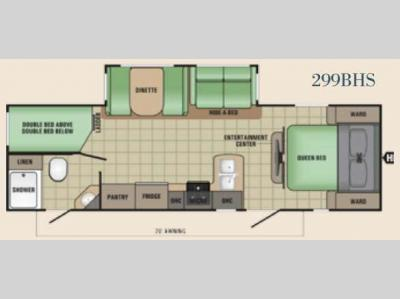 Floorplan - 2017 Starcraft Launch Grand Touring 299BHS