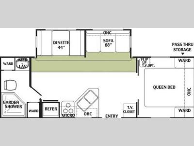 Floorplan - 2004 Forest River RV Wildwood 27 FBSS