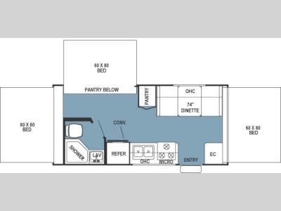 Floorplan - 2007 Forest River RV Rockwood Roo 183