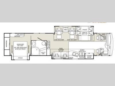 Floorplan - 2007 Fleetwood RV Discovery 40X