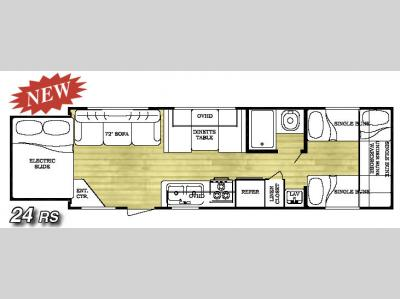 Floorplan - 2007 Gulf Stream RV Ameri-Lite 24RS