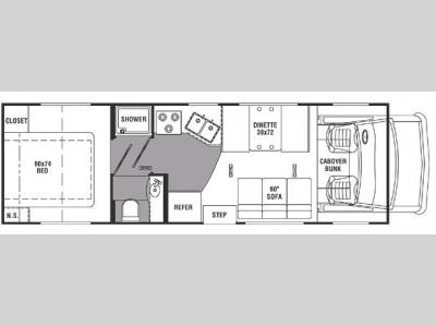 Floorplan - 2007 Holiday Rambler Atlantis 29RQ