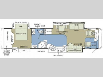 Floorplan - 2006 Holiday Rambler Imperial 40PDQ