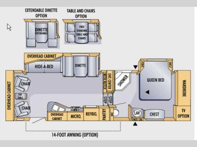 Floorplan - 2007 Jayco Eagle 299 RLS