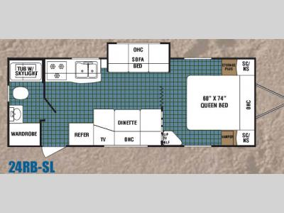 Floorplan - 2006 Dutchmen RV Kodiak 24RB-SL