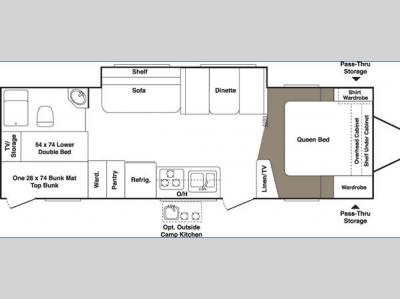 Floorplan - 2006 Keystone RV Outback 29BHS