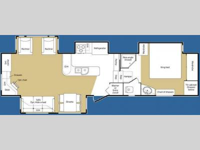 Floorplan - 2008 Keystone RV Big Sky 360REQ
