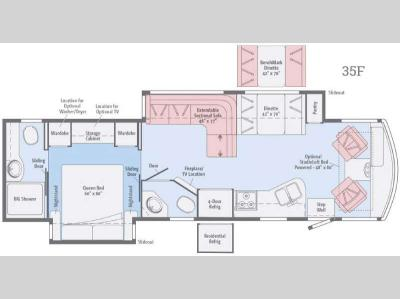 Floorplan - 2017 Itasca Sunstar LX 35F