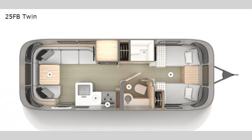 Airstream Globetrotter 25FB Twin