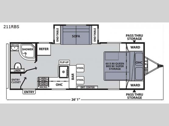 Apex Ultra-Lite 211RBS Floorplan Image