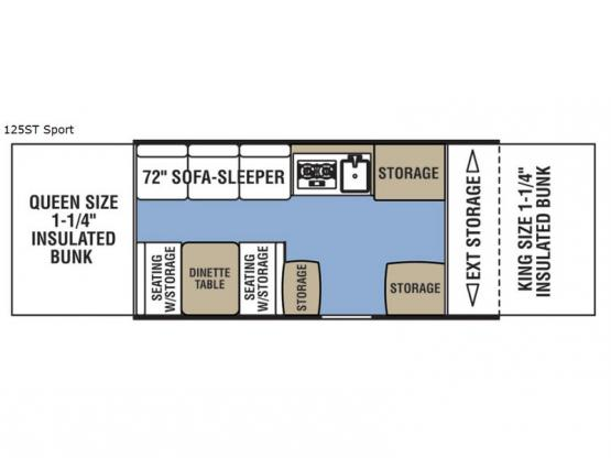 Clipper Camping Trailers 125ST Sport Floorplan Image