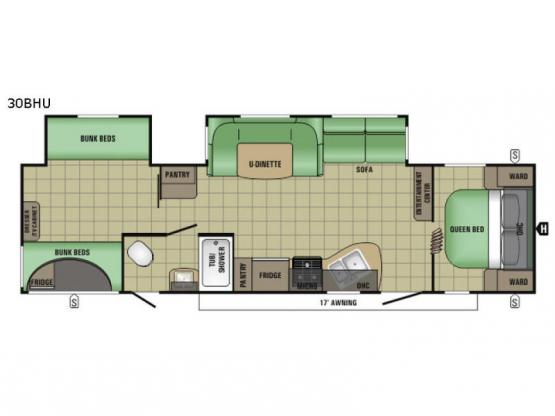 AR-ONE MAXX 30BHU Floorplan Image