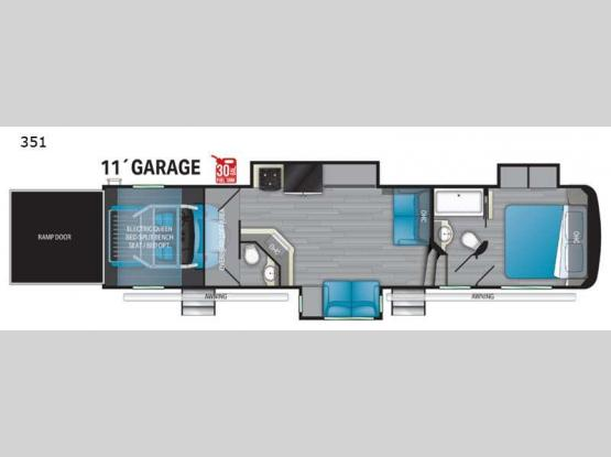 Road Warrior 351 Floorplan Image
