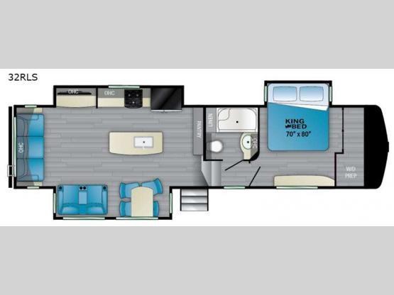 ElkRidge 32RLS Floorplan Image