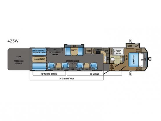 Seismic Wave 425W Floorplan Image