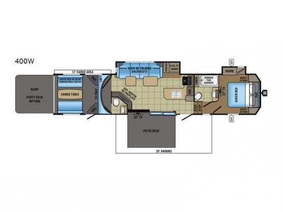 Seismic Wave 400W Floorplan Image