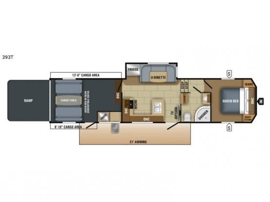 Talon 393T Floorplan Image