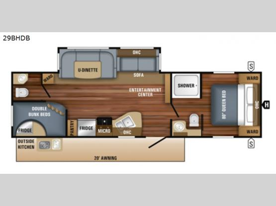 Jay Flight 29BHDB Floorplan Image