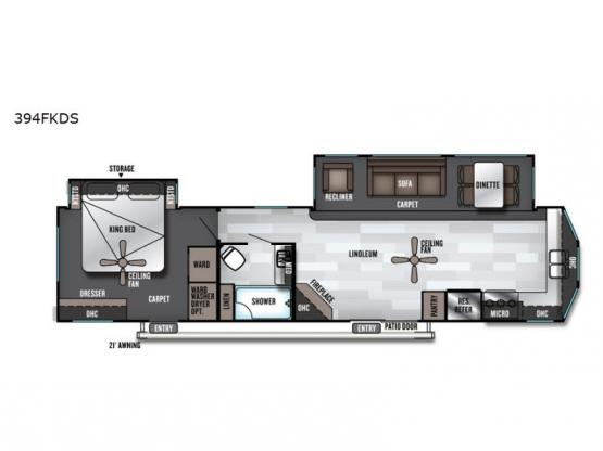 Salem Villa Series 394FKDS Estate Floorplan Image