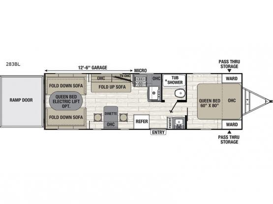 Freedom Express Blast 283BL Floorplan Image