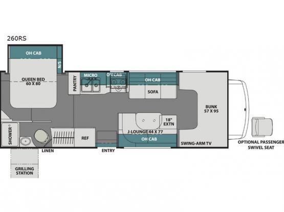 Leprechaun 260RS Chevy 4500 Floorplan Image