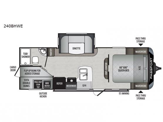 Passport 240BHWE SL Series Floorplan Image