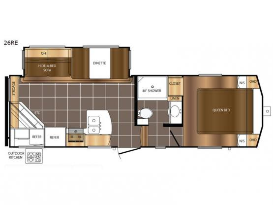 Crusader LITE 26RE Floorplan Image