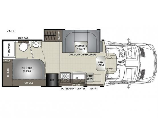 Prism Elite 24EJ Floorplan Image
