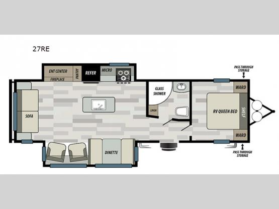 Wildwood 27RE Floorplan Image