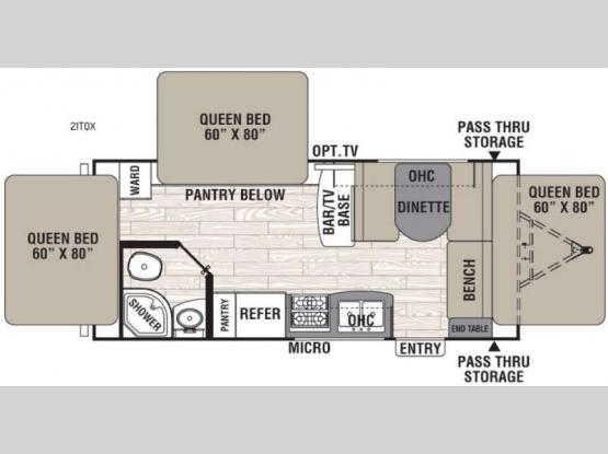 Freedom Express 21TQX Floorplan Image