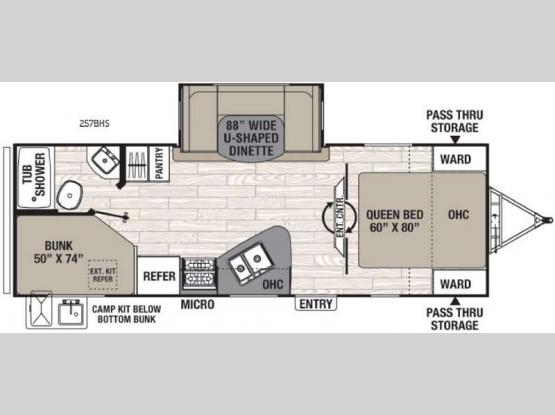 Freedom Express 257BHS Floorplan Image