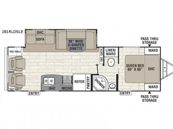 Freedom Express Liberty Edition 281RLDSLE Floorplan Image