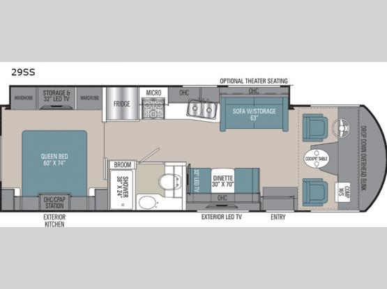 Pursuit Precision 29SS Floorplan Image