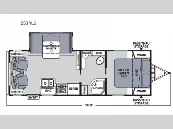 Apex Ultra-Lite 253RLS Floorplan Image
