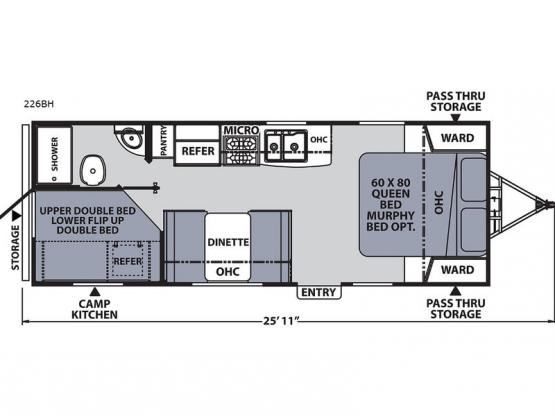 Apex Ultra-Lite 226BH Floorplan Image