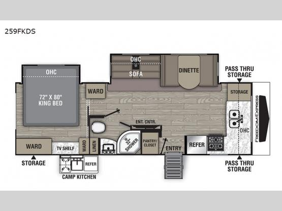 Freedom Express Ultra Lite 259FKDS Floorplan Image