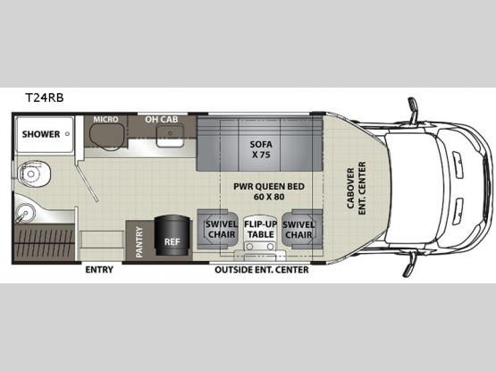 Orion Traveler T24RB Floorplan Image