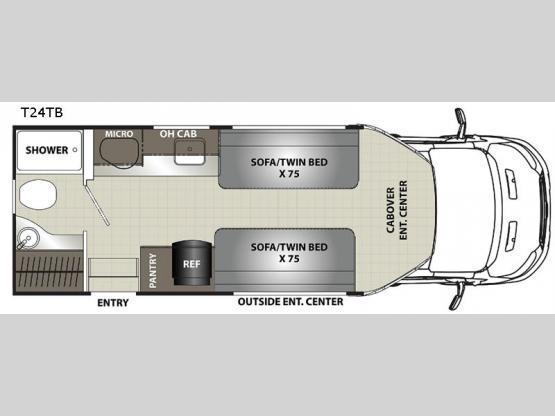 Orion Traveler T24TB Floorplan Image